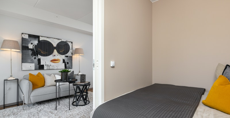 God plass til dobbeltseng (innredet med 1,80 seng)