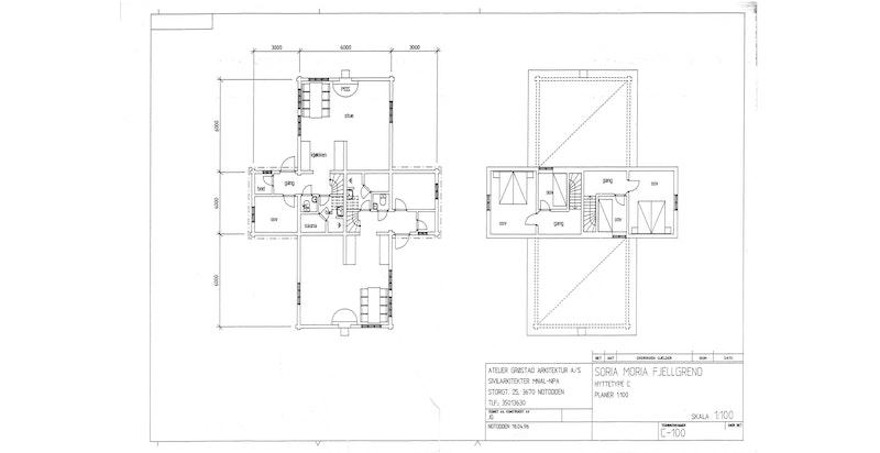 Plantegninger fra kommunens arkiv for byggetegninger - avvik kan forekomme