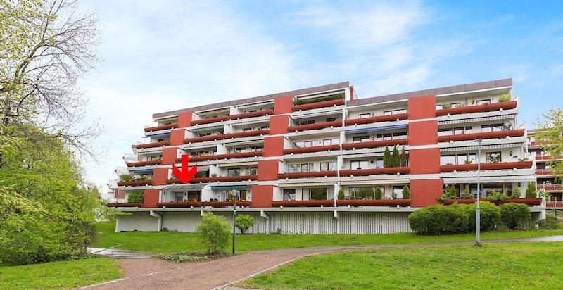 Vestsiden av Skøyen terrasse 4.