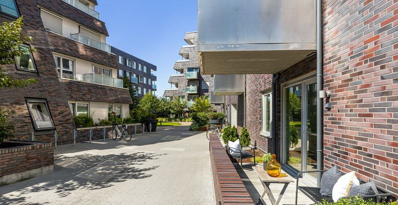 Privat terrasse på 33 m²