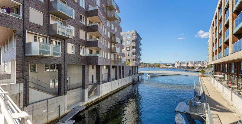 Fasade mot kanalen