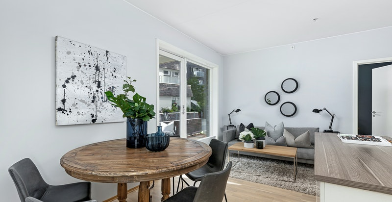 Spiseplass mot stue