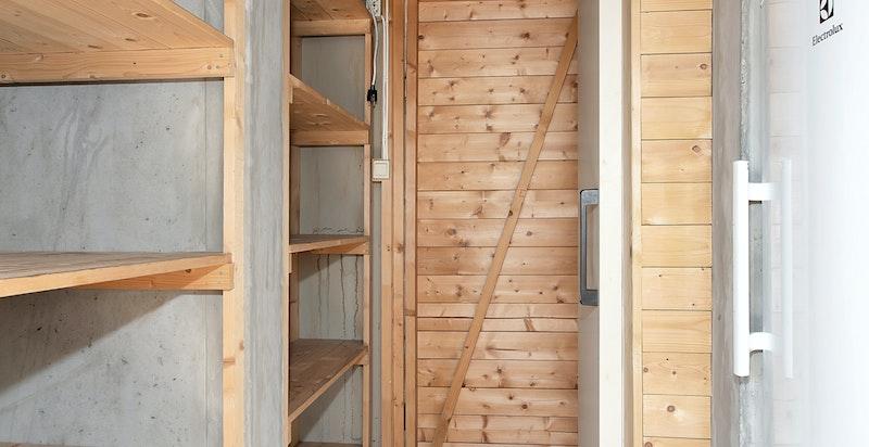 Bod på terrassen med kjølerom og kjøleskap