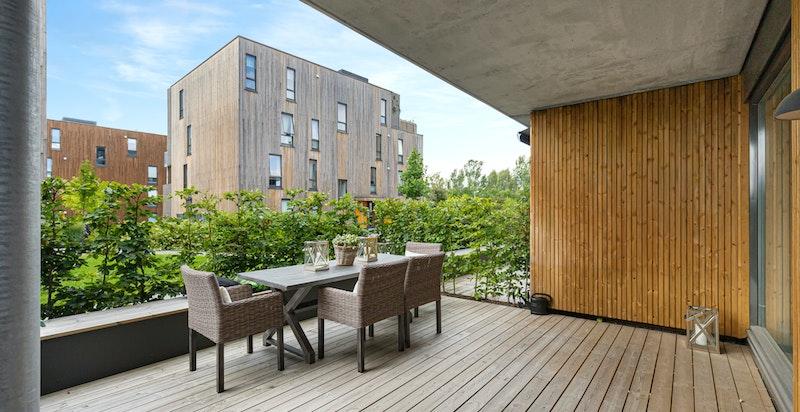 20 kvm solrik syd/vestvendt terrasse
