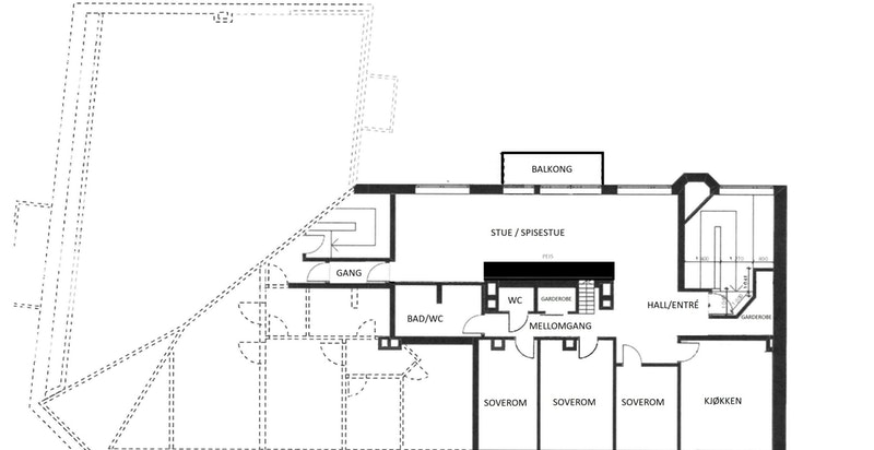 Planskisse - 5. etasje