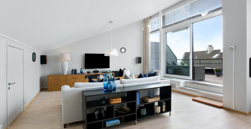 Store vinduer gir gode lysforhold