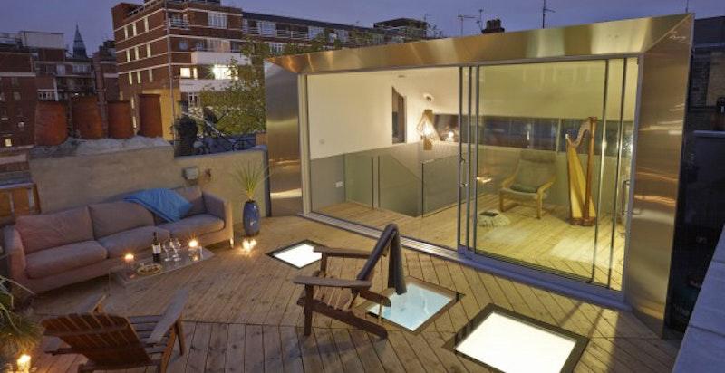 Eksempelbilde av et lignende takprosjekt i London. Kontakt megler for informasjon om hva som er gjort.