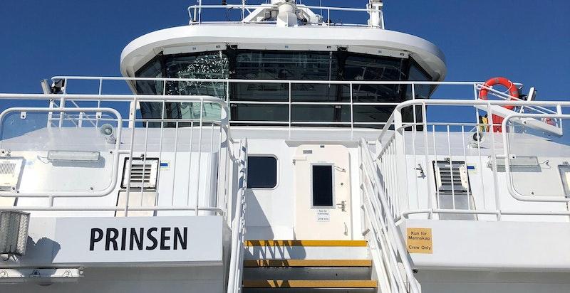 Nesoddtangen med enkel buss og båtforbindelse med både Lysaker og Aker Brygge
