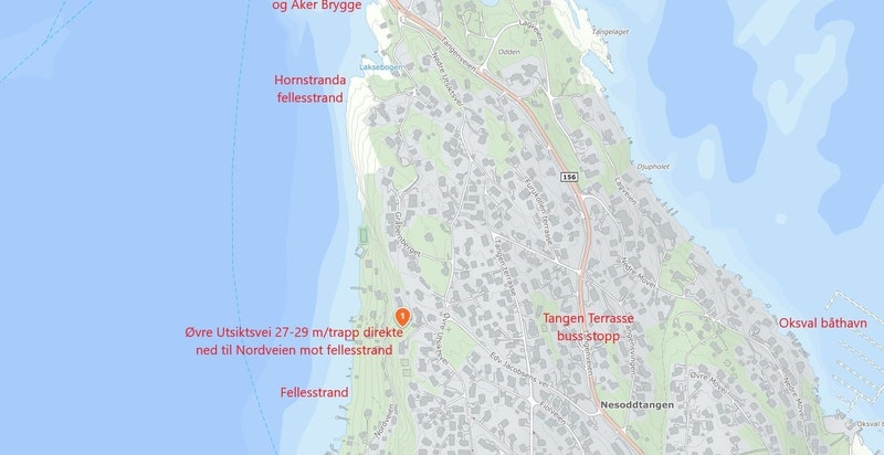 Kart med områdeinfo rundt ØU27-29