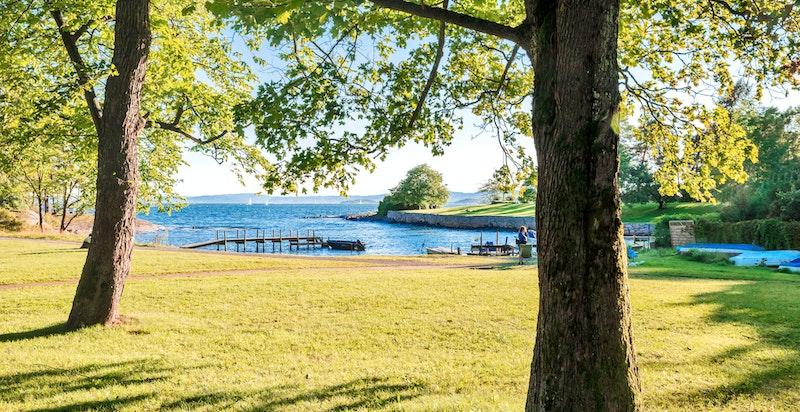 Det er ikke langt til Bygdøy med flotte turområder og badestrender.