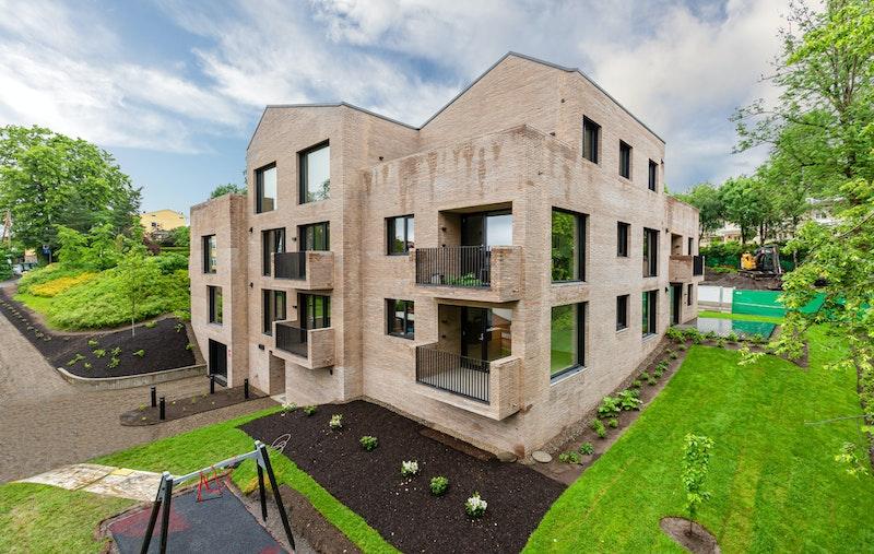 Flott arkitektur. Arkitekten bak prosjektet er Reiulf Ramstad Arkitekter.