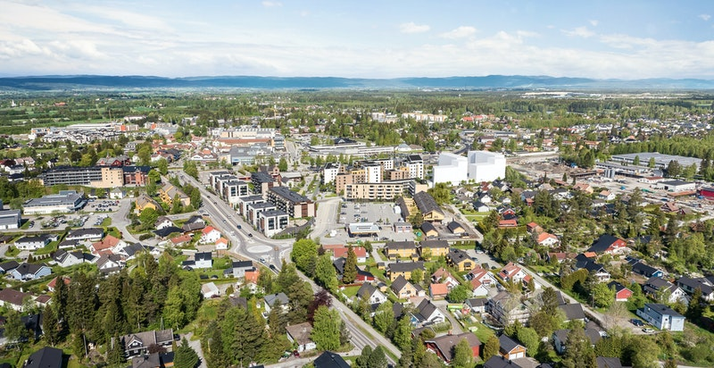 Saga Terrasse ligger i Jessheim sentrum