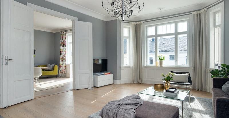 Klassisk leilighet med karnapp