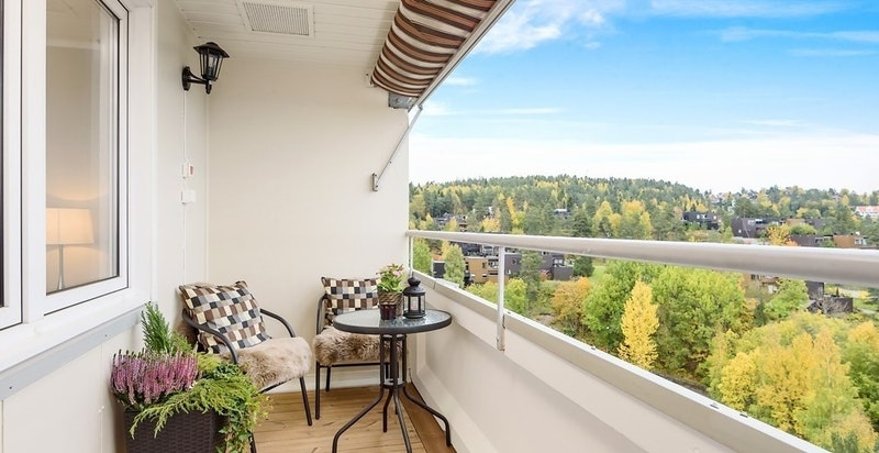 Balkong med panoramautsikt