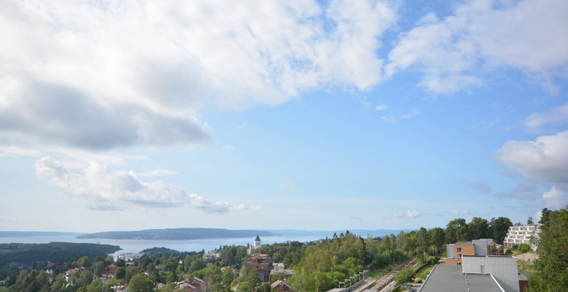 Balkongen - utsikten ut mot innseilingen fra Drøbak.