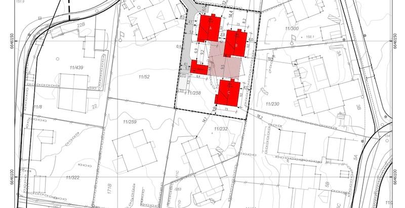 Situasjonplan for eiendommen.