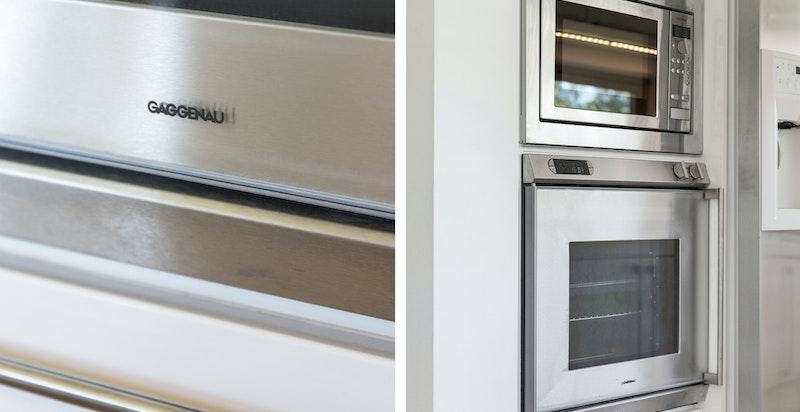 Kjøkkenet har integrerte hvitevarer fra Gaggenau