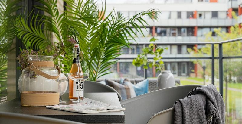 Skap din egen grønne oase på balkongen.