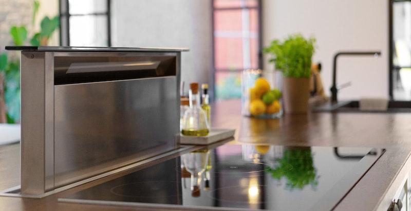 Ventilator integrert i benk - moderne og minimalitsitsk