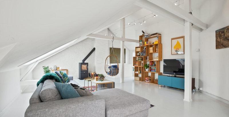 Borettslaget ønsker at toppleilighetene (som denne) kan kjøpe og bygge ut loftet ytterligere.