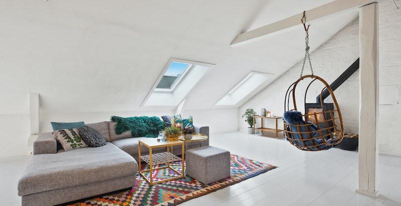 Taket ble renovert i 2017, inkl nye takvinduer