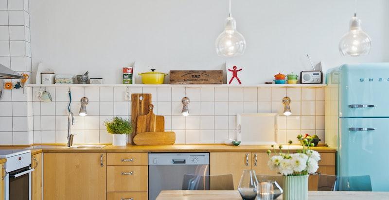 Sosialt, åpent og praktisk kjøkken