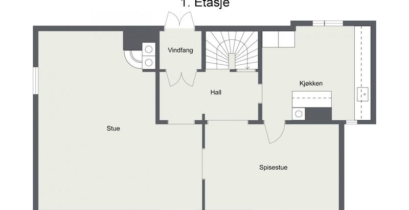 Floorplan letterhead - Abbedikollen 35 - 1. Etasje - 2D Floor Plan