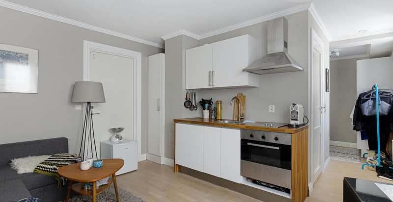 Stue/kjøkken (separat del med egen inngang)