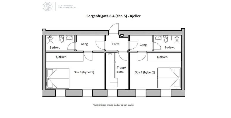 Plantegning - Kjeller