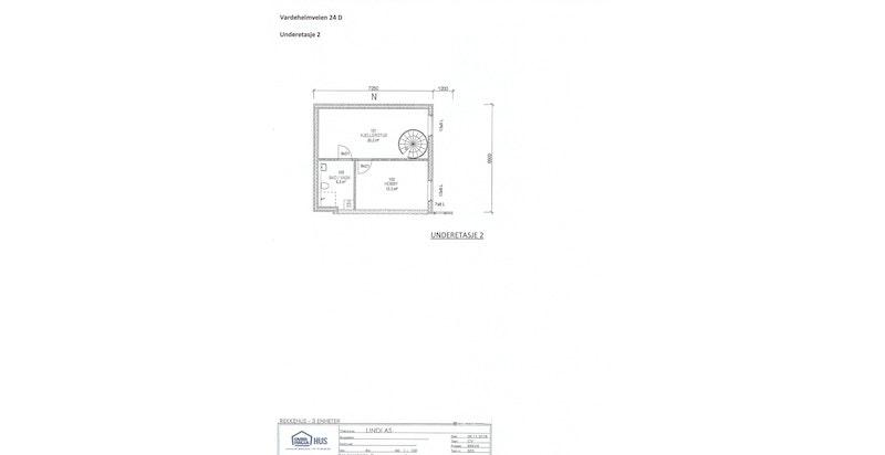 Planskisse u.etg. 2 (bad i denne etg. er tilvalg - se nærmere beskrivelse i prospektet) - hus D (nord)