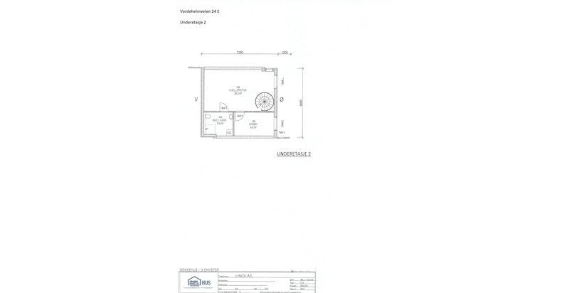 Planskisse u.etg. 2 - hus E (midt) - NB! avvik kan forekomme