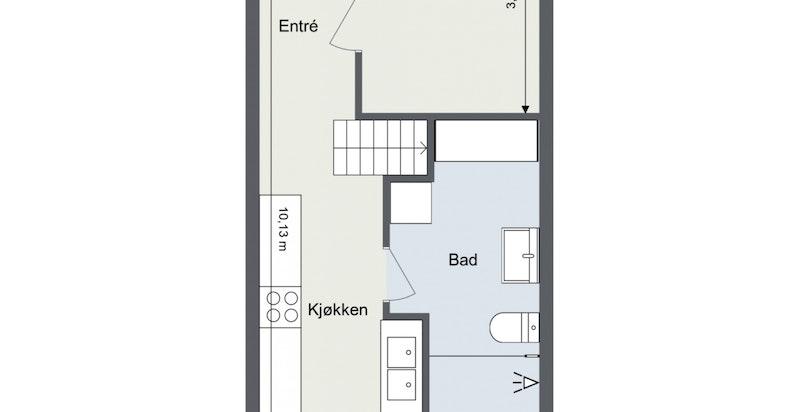 Floorplan letterhead - Veitvetveien 28 - 3. Etasje - 2D Floor Plan (1)