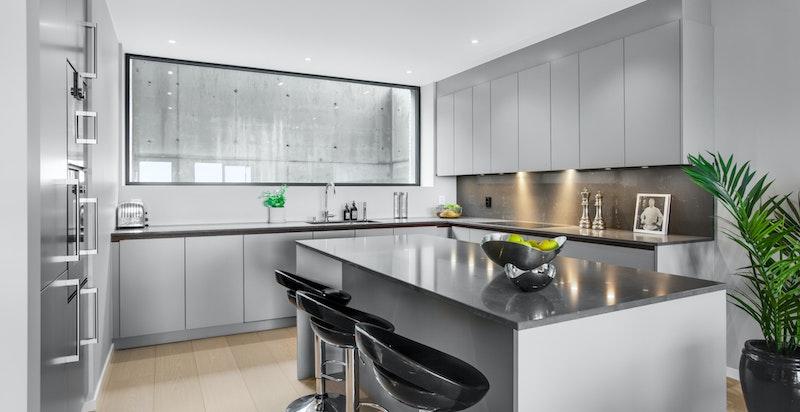 Kjøkkenet fra Kvänum har et lekkert design som går i ett med resten av interiøret