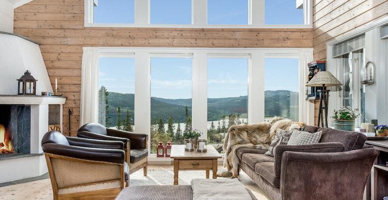 Flott utsikt fra stuen