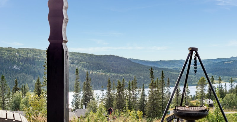 Utsikten fra terrassen