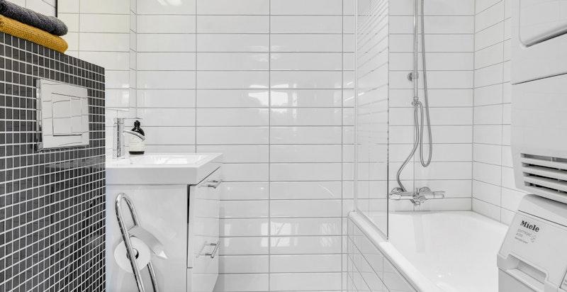 Opplegg for vaskemaskin og tørketrommel på badet