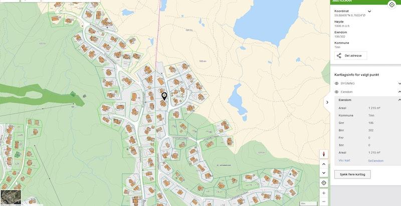 Langetjønnvegen 71 på kommunekart.com
