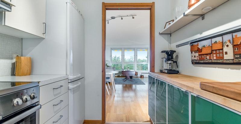 Kjøkkenet hvor hvitevarene medfølger
