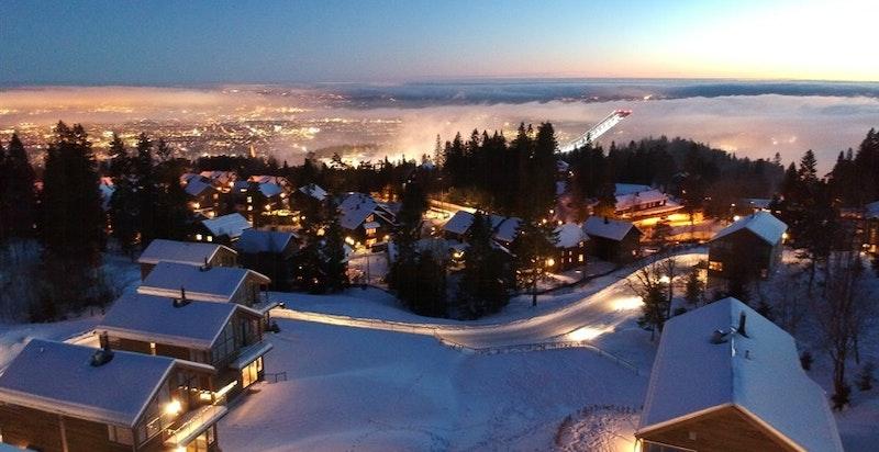 Alle årstidene på Voksenkollen er fantastiske, men vinteren byr ofte på de kanskje mest spektakulære øyeblikkene