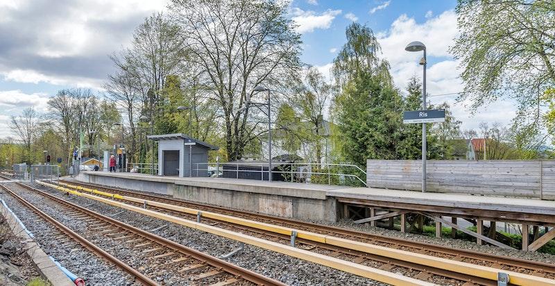T-banestoppen på Ris