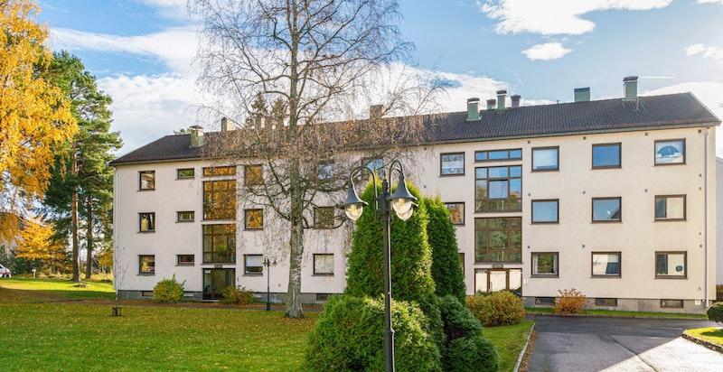 Fasaden/inngangspartiet til Østerliveien 58 A og B.