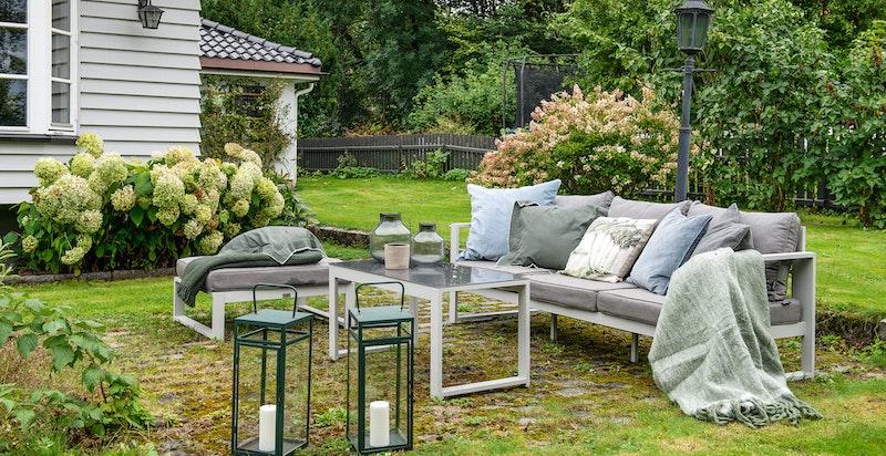 Gode muligheter for sittegrupper i hagen