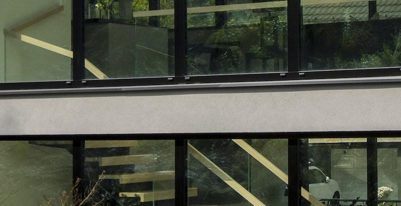 Utvendig fasadedetalj fra inngangssiden