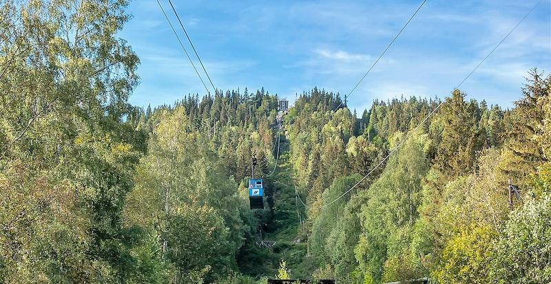 Det er kort vei til Krossobanen, som er Nord-Europas første totausbane fra 1926.
