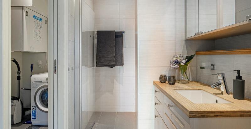 Vaskerom innenfor dusjbadwc
