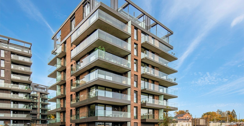 Nybygget, lekker 2-romsleilighet med balkong og parkeringsplass