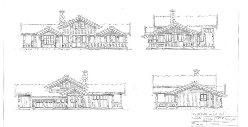 Fasadetegninger fra kommunens arkiv