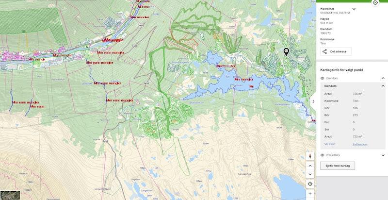 Krosshovdvegen 37 zoomet ut på kommunekart.com