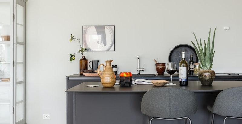 Kjøkkenøy med sitteplasser