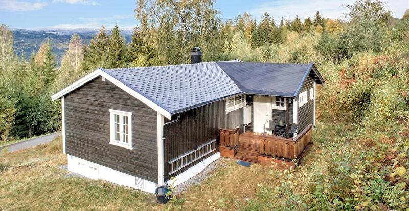 Koselig hytte som er oppgradert de siste årene